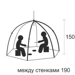 """Палатка зимняя СТЭК """"ELITE"""" 2-местная (2.2x2.2x1.5м)"""